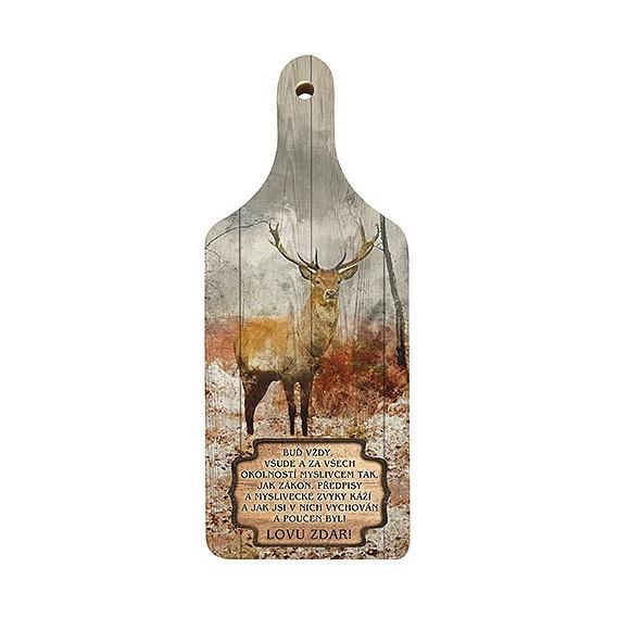 Dekoračný drevený lopárik pre poľovníkov (verzia v SK)