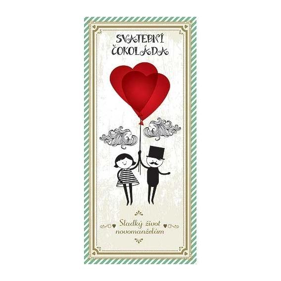 Bohemia Gifts - svatební mléčná čokoláda 100 g