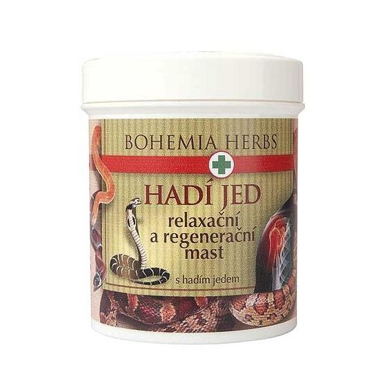 Bohemia Bylinky - regeneračné a relaxačné masť 125 ml - s hadí jed