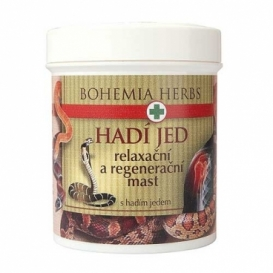 Bohemia Herbs - regenerační a relaxační mast 125 ml - s hadím jedem