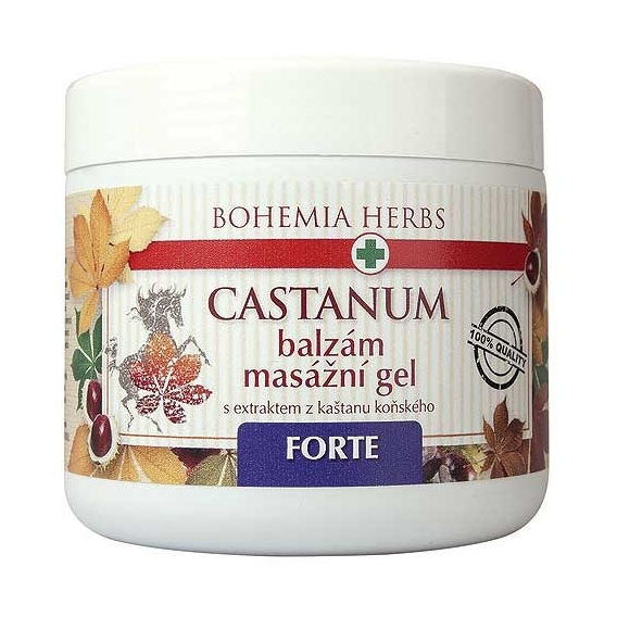Bohemia Herbs - balzám - koňský kaštan 600 ml - masážní gel - forte