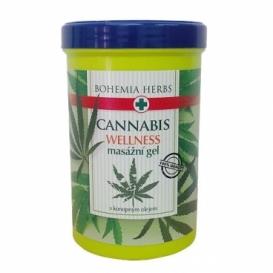 Bohemia Herbs - konopný masážní gel 380 ml - s konopným olejem
