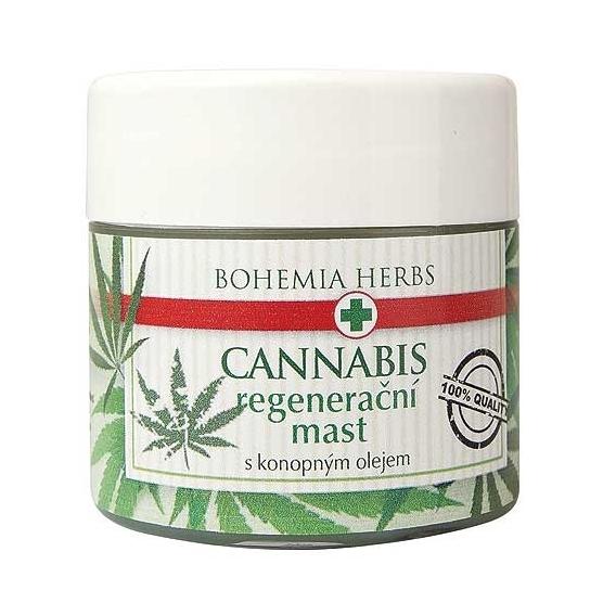 Bohemia Herbs - konopná regenerační mast 120 ml - s konopným olejem