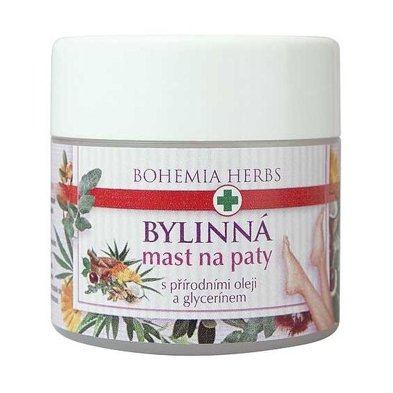 Bohemia Herbs - bylinná mast na paty 120 ml - s přírodními oleji a glycerinem