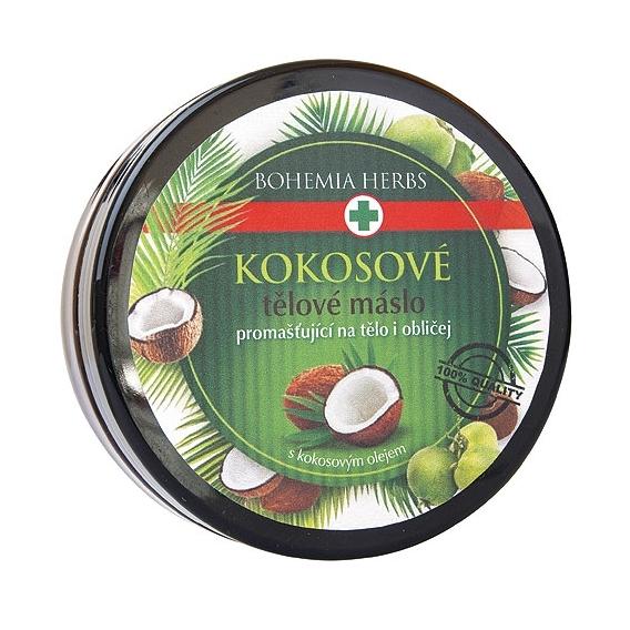 Bohemia Bylinky - kozmetika kokos - kokosový telo maslo 200 ml - s kokosový olej