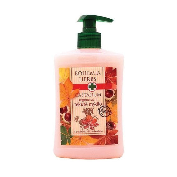 Bohemia Bylinky - Castanum krém tekuté mydlo 500 ml - kôň gaštan