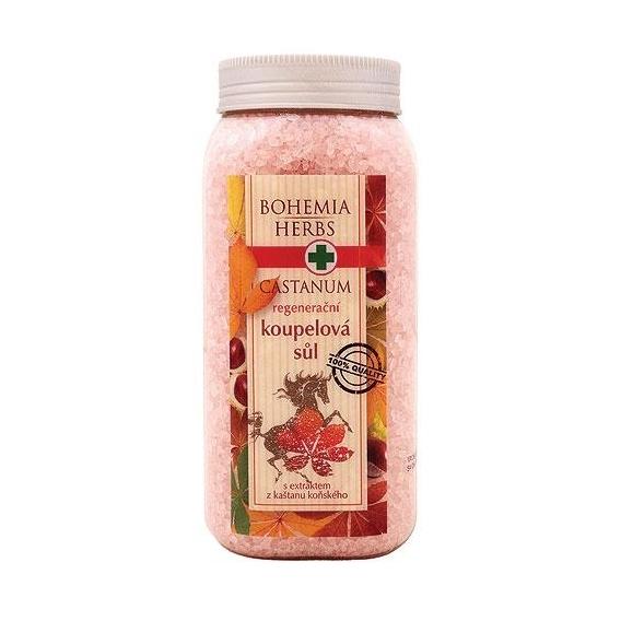 Bohemia Bylinky - Castanum kúpeľové soli 900 g s koňom-strom gaštan
