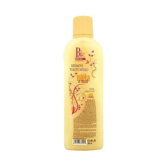 Bohemia Kozmetika krém na tekuté mydlo 1000 ml - náplň - mlieko a med
