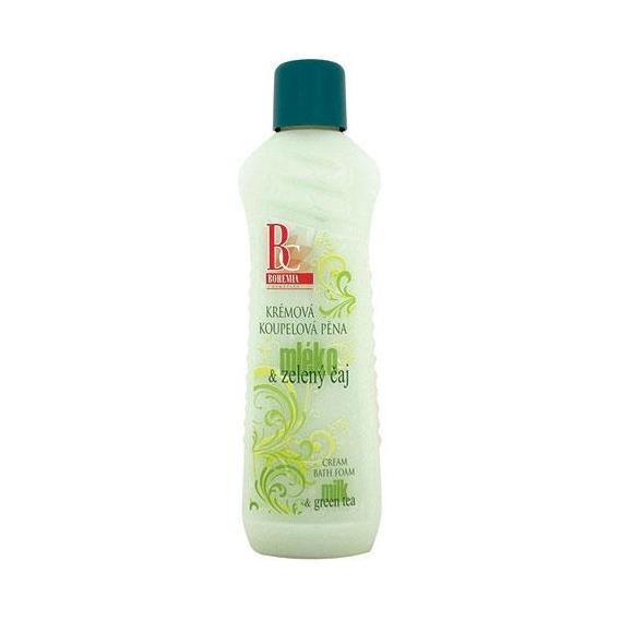 Bohemia Kozmetika - krémová kúpeľové peny, 1000 ml, - mlieko a zelený čaj