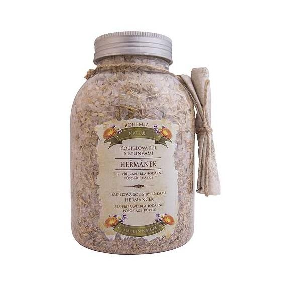 Bohemia Natur - koupelová sůl s bylinkami 1200 g - heřmánek, měsíček a mateřídouška