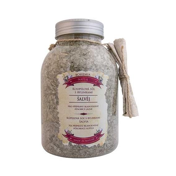 Bohemia Natur - kúpeľové soli s bylinkami 1200 g v jar - žiaci s šalvia