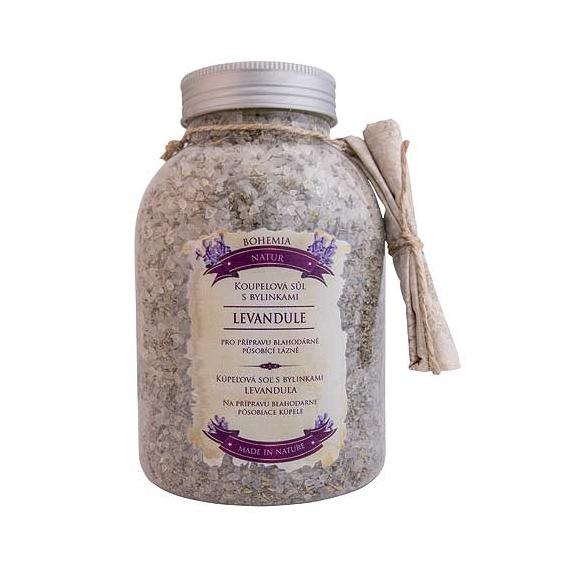 Bohemia Natur - kúpeľové soli s bylinkami 1200 g - ukľudňujúci s levanduľou