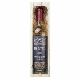 Bohemia Gifts - darčekové biele víno 0.75 l pre ocka - Chardonnay