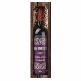 Bohemia Gifts - darčekové červené víno 0.75 l pre mamu - Merlot