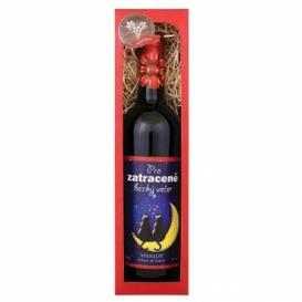 Bohemia Gifts - červené víno 0,75 l Merlot - Zatraceně hezký večer