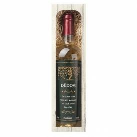 Bohemia Gifts - dárkové víno 0,75 l - dědečkovi - Chardonnay