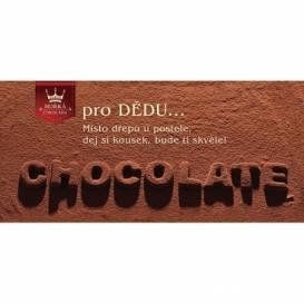 Bohemia Gifts - dárková hořká čokoláda 100 g - dědečkovi