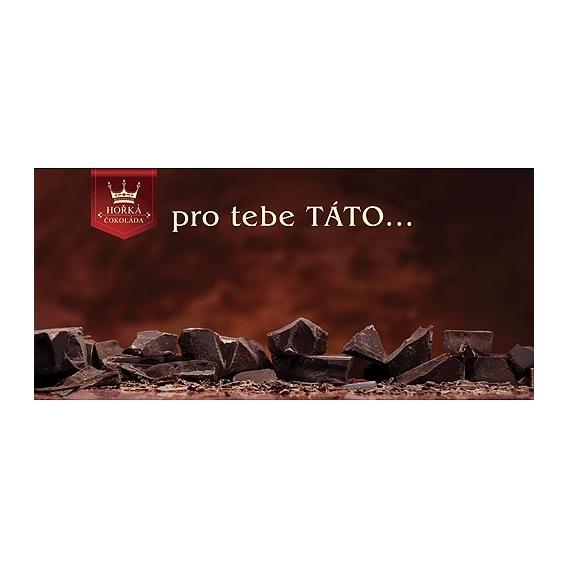 Bohemia Gifts - dárková hořká čokoláda pro tatínka 100 g
