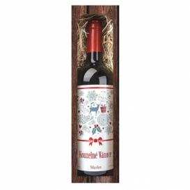 Bohemia Gifts - vánoční víno 0,75 l - Kouzelné Vánoce (Merlot)