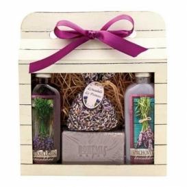 Bohemia Natur darčekové balenie La Provence - gél, mydlo, vaňa a taška z bylín