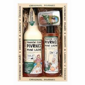 Pivní kosmetika Pivrnec - sada gel, pěna a mýdlo