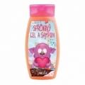 Detský jahodový krémový sprchový gél a šampón Monster 250 ml