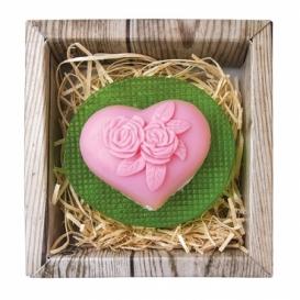 Bohemia Gifts - ručně vyráběné mýdlo - srdce a květina