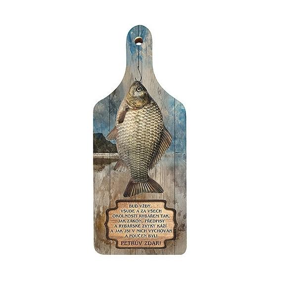 Bohemia Gifts - dekorační kuchyňské prkénko pro rybáře