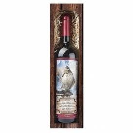 Bohemia Gifts - červené víno 0,75 l pro rybáře Petrův zdar
