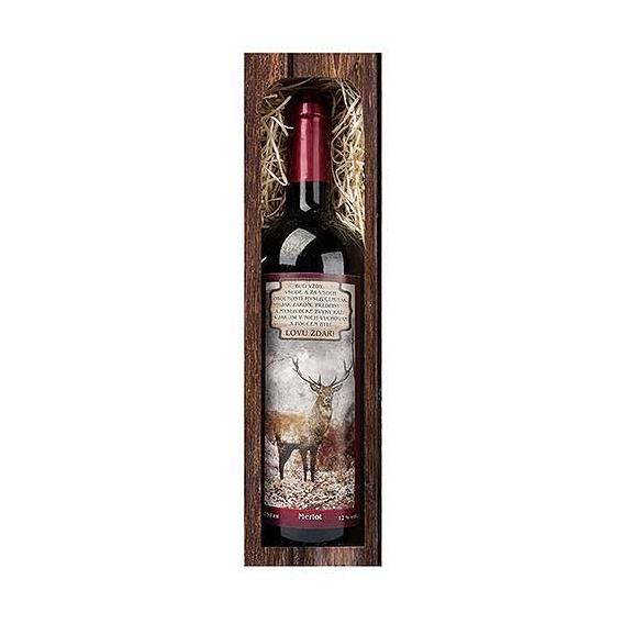 Darčekové víno LOVU ZDAR - červené víno Merlot 750 ml (verzia v SK)