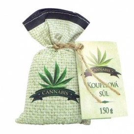 Bohemia Natur - Cannabis premium - koupelová sůl 150 g v sáčku