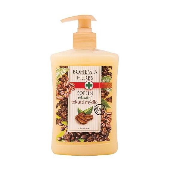 Bohemia Herbs - krémové tekuté mýdlo 500 ml s kofeinem