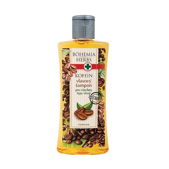 Bohemia Herbs - vlasový šampon 250 ml s kofeinem