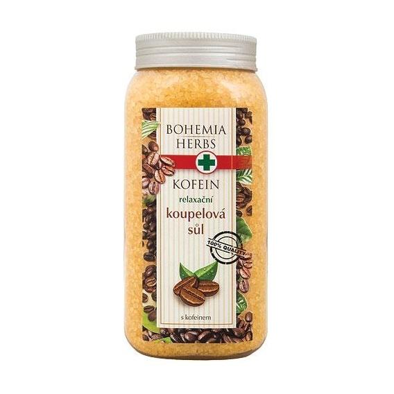 Bohemia Bylinky - kúpeľové soli 900 g s kofeínom