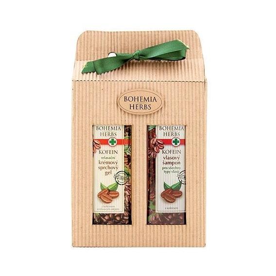 Bohemia Bylinky - kozmetika kofeín - darčekové balenie - sprchový gél a šampón vlasy