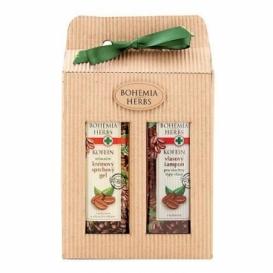 Bohemia Herbs - kosmetika kofein - dárkové balení - sprchový gel a vlasový šampon
