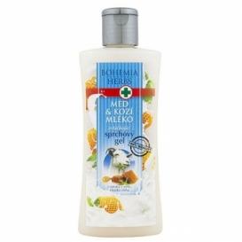 Bohemia Herbs - krémový sprchový gel 250 ml s extrakty z medu a kozího mléka