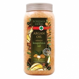 Bohemia Herbs - kosmetika argan - koupelová sůl 900 g s arganovým olejem