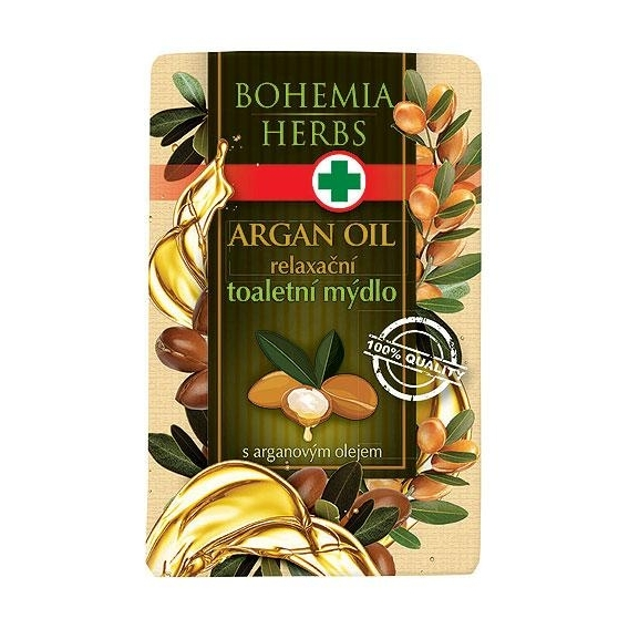 Bohemia Bylín - kozmetický arganový - toaletné mydlo 100 g s glycerín a arganového oleja