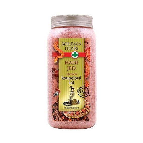 Bohemia Herbs - kosmetika hadí jed - koupelová sůl 900 g s hadím jedem