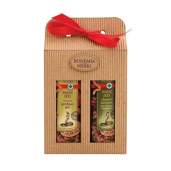 Bohemia Bylinky - kozmetika hada jed - darčekové balenie - sprchový gél a šampón vlasy