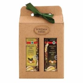 Darčekové balenie s arganovým olejom - sprchový gél a vlasový šampón