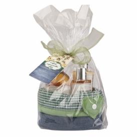 Darčeková sada pre ženu- gél, mydlo a šampón v košíku