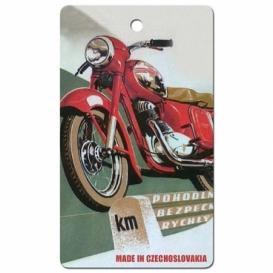 Bohemia Gifts - ručně parfémovaná aromatická karta do auta - motorka - made in Czechoslovakia