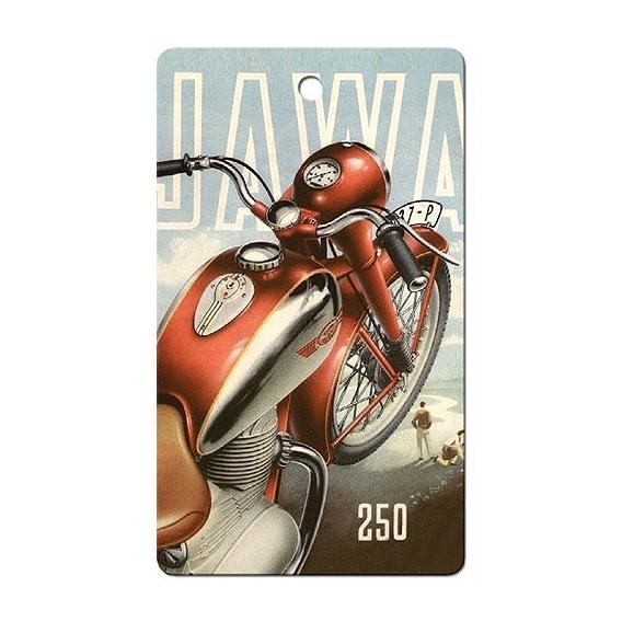 Bohemia Gifts - ručně parfémovaná aromatická karta do auta - motorka 250