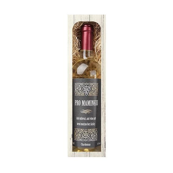 Bohemia Gifts - darčekové biele víno pre mamu 0.75 l - Chardonnay