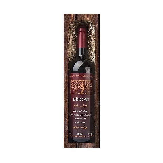 Bohemia Darčeky - darček víno, 0.75 l - môj dedko - Merlot