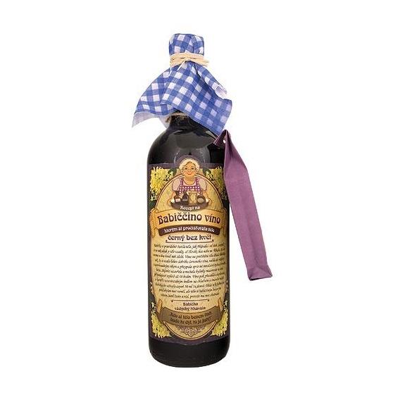 Bohemia Darčeky - mojej starej mamy macerácia víno, 0.75 l - čierny kvet