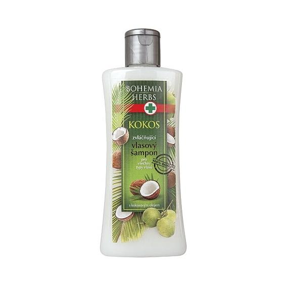 Bohemia Herbs - kosmetika kokos - vlasový šampon 250 ml s kokosovým olejem