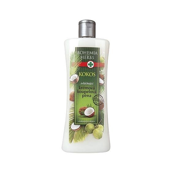 Bohemia Herbs - kosmetika kokos - koupelová pěna 500 ml s kokosovým olejem